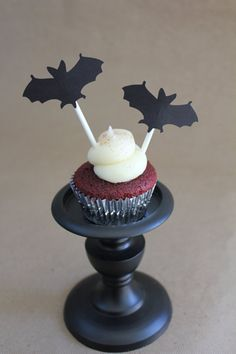 Bat Cupcake Toppers by SweetCollieDesigns on Etsy, $7.00
