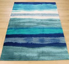 Boca BC11 Oslo Stripe Blue Rugs | Modern Rugs