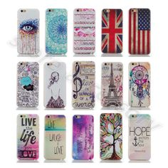 For iPhone LG Huawei Colorful Popular Tough Hard PC Plastic Back Case Cover Skin
