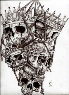 calaveras de reyes caidos