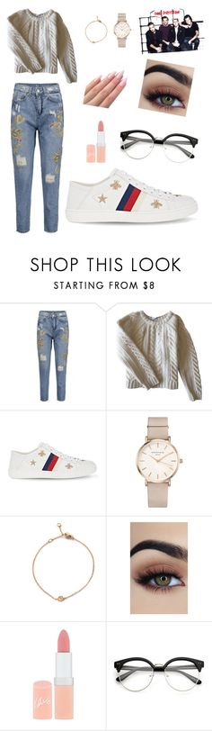 """""""School with the  boys"""" by lilylovell ❤ liked on Polyvore featuring Anine Bing, Gucci, ROSEFIELD and Rimmel"""