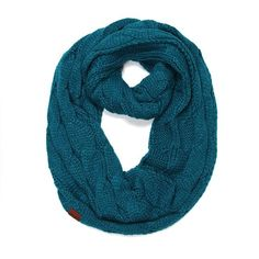 2ef774b44e9 French Connection Pagliaro Knitted Snood, Blueblood ($56) ❤ liked on  Polyvore | Clothes | Snood scarf, Snood, French Connection