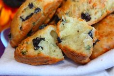 Savory madeleines with oregano, gruyère and olives