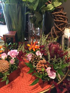 Floral Wreath, Wreaths, Table Decorations, Fall, Furniture, Home Decor, Autumn, Floral Crown, Decoration Home