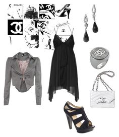 Chanel Forever by giubagnols on Polyvore featuring polyvore, fashion, style, Topshop, Lipsy, Barneys New York, Chanel, Stephen Dweck and clothing