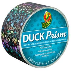 Duck Prism® Crafting Tape - Small Stars http://duckbrand.com/products/craft-decor/prism-glitter-tape/prism-standard-rolls/stars-75-in-x-180-in?utm_campaign=craft-tapes-general&utm_medium=social&utm_source=pinterest.com&utm_content=prism-tape