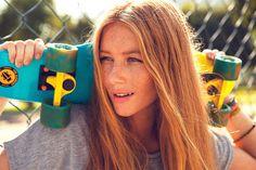 Female Skater Daiane Baron Sports Terrific Summer Looks #skateboards #girly trendhunter.com