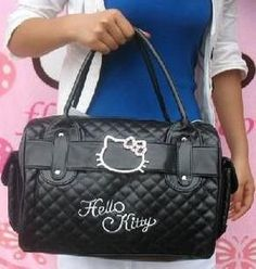 Luxury famous brand women female ladies casual bags leather hello kitty handbags shoulder tote bag bolsas femininas couro