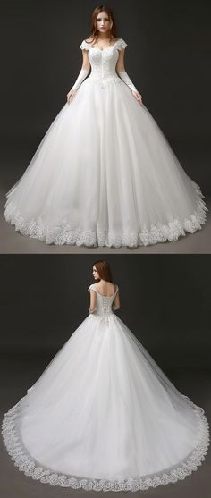 Princess Wedding Dresses   Sweetheart, Ball Gown Bridal Dresses Lace, Tulle Vintage Wedding Dresses Modest Glamorous