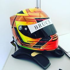 Its out for the first race! Our helmet design for @nickip_dk is driving this weekend at  #classicraceårhus and we are here to support him as always!  #helmetdesign #helmet #arai #racing #motorsport #design #danishdesign #moto #race #karting #f1 #alpinestar #podium #formulaone #wec #fia #rally #indycar #nascar #motorsportforlife #njdesign #creative #art #perfection #colours by nj_design_denmark