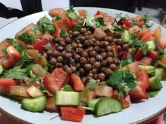 Chickpea salad - Lovely homecooked Middle Eastern mezze meal by BeirutiBrit |Living in Sin