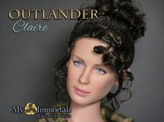 A doll repainted to become a Claire doll. By Susan Hook