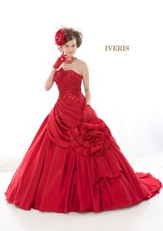 IVERIS red Beautiful Dresses, Nice Dresses, Formal Dresses, Party Dresses, Barbie And Ken, Fancy Pants, Unique Outfits, Shades Of Red, Evening Gowns