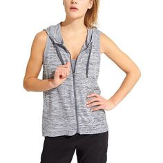 Athleta Women Blissful Balance Vest Size L ($89) ❤ liked on Polyvore featuring grey and athleta