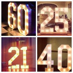 Catalogue of all the light up letters, floral letters and props available to hire in the North West UK 40th Party Ideas, 40th Birthday Decorations, 50th Party, Birthday Ideas, Birthday Stuff, 21 Party, Happy 40th Birthday, 30th Birthday Parties, Rock Star Party