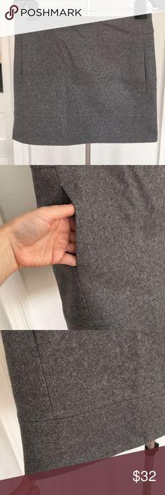 Wool J. Crew mini skirt A beautiful gray wool mini skirt from J. Crew in excellent condition! J. Crew Skirts Mini