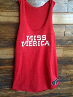 Miss 'Merica Red Shine On Tank by ShineOnTanning on Etsy, $29.95