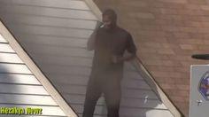 Un Hombre incendia la casa de ex novia y baila sobre su techo.#Viral