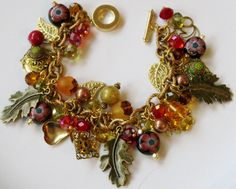 Autumn Fall Handcrafted Charm Bracelet Etsy - FancifulFlairDesigns eBay - kathieaug ID