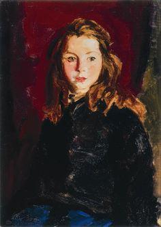"""Blond Bridget Lavelle,"" Robert Henri, 1928, oil on canvas, 27 1/4 x 19 1/4"", Milwaukee Art Museum."