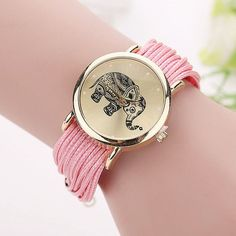New Women Leather Bracelet Watches Fashion Casual Elephant Wrist Watches Relojes Mujer Relogio Feminino Clock BW1687