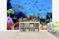 Coral Reef at Koh Cahg Island - Tapetit / tapetti - Photowall Photo Wallpaper, Coral, Island, Bar, Islands