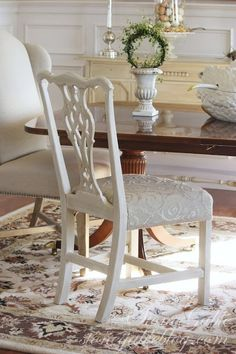 How to Recover Dining Room Chairs | La Casa | Pinterest | Room ...