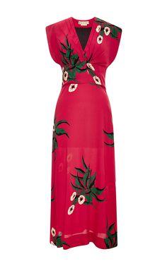 Floral-Print Crepe Midi Dress by Marni - Moda Operandi