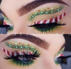 Creative And Gorgeous Christmas Makeup Ideas For The Big Holiday; Christmas Makeup Looks; Holiday Makeup Looks; Eye Makeup Art, Makeup Inspo, Eyeshadow Makeup, Makeup Inspiration, Makeup Ideas, Eye Makeup Images, Matte Makeup, Eyebrow Makeup, Makeup Tips