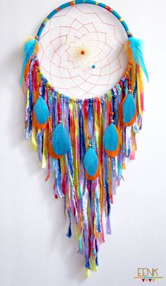 Dreamcatcher- Calypso the Island Sea Nymph Large Native Style Handwoven by eenk