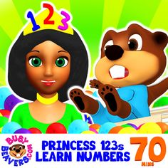 """Toddlers & Preschoolers Will Fall in Love with Princess 123s & Her Catchy Song """"Baby I Love You"""". This Funny Animated Song Based on an Classic 80s Rock Video Teaches Counting with a Melody Kids will Remember. Try the Whole Long-Play with Your Kids!  http://bit.ly/Princess-123s-Learn-Numbers  #BusyBeavers #Princess123s #LearnNumbers #Counting"""