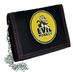 Evil Monkey Tri-Fold Wallet with Chain Alternative Clothing Family Guy