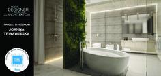 Wśród 10 projektów wyróżnionych w konkursie Roca Designer, znalazła się praca nadesłana przez Joannę Trawawińską. Wnętrze tej eleganckiej przestrzeni łazienkowej wyróżnia ścianka obrośnięta żywą zielenią, utrzymująca całość w naturalnej a zarazem niespotykanej atmosferze.W projekcie zostały użyte produkty z powłoką MAXI CLEAN.