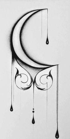 Dark Art Drawings, Tattoo Design Drawings, Art Drawings Sketches Simple, Pencil Art Drawings, Tattoo Sketches, Easy Drawings, Tattoo Designs, Tattoo Ideas, Bild Tattoos