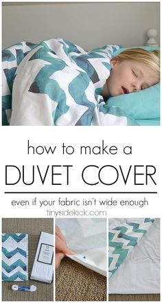 Must read! How to make a duvet cover even if your fabric isn't wide enough! This give endless possibilities to your bedroom decor! #sewing #duvetcover #tutorial