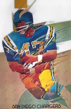 Don Weller - Poster, San Diego Chargers NFL Collectors Series, 1968.