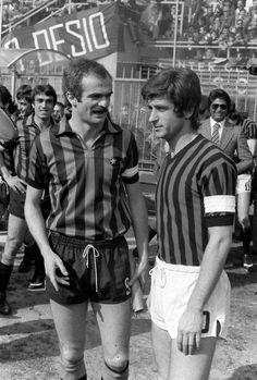 Mazzola and Rivera, 1974. #Inter #ac milan #Derby della Madonnina