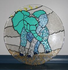Melted Bead Elephant Tutorial - MISCELLANEOUS TOPICS - I did this for a lovely lady in a swap. She loves blue and collects elephants - some of my favorites! Plastic Beads Melted, Melted Pony Beads, Melted Bead Crafts, Pony Bead Crafts, Crafts To Do, Crafts For Kids, Arts And Crafts, Melted Bead Suncatcher, Plastic Bottle Flowers
