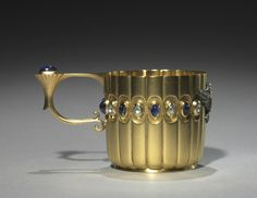 Miniature Cup firm of Peter Carl Fabergé (Russian, 1846-1920), fabricated by Mikhail Evlampievich Perkhin (Russian, 1860-1903)