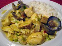 Spanish Fish and Clams in Garlic Wine Sauce Recipe