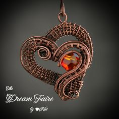 Fire in the Heart Necklace | by FaerieKat