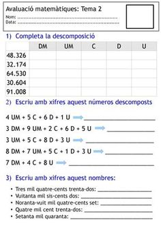 Math Exercises, 4th Grade Math Worksheets, Homework, Education, School, Books, Teaching Math, Fun Math Activities, Teaching Supplies