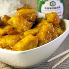 An amazing sweet and sour chicken for around 375 calories per serving and actually tastes better than the original!