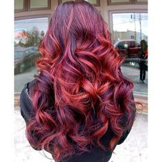 Red ombre hair - i'm not sure why i'm pinning this since i'm not a red fan; but this, this is cool!