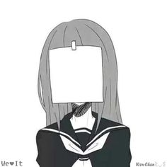 anime girl, b&w, creative, cute, manga, monochrome, nice
