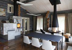 Moscow Log House cozy modern interior