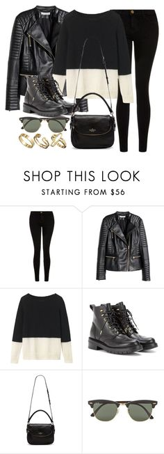 """Style #9847"" by vany-alvarado ❤ liked on Polyvore featuring moda, Current/Elliott, H&M, Toast, rag & bone, Kate Spade, Ray-Ban, Pull&Bear, women's clothing ve women"