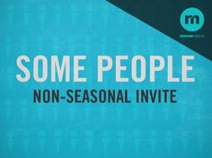 Some People Non-Seasonal Invite | Creative Sheep