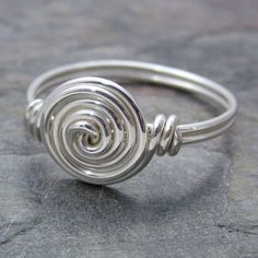 Sterling Silver Wire Wrap Spiral Ring ANY size | eBay