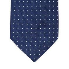 Osborne Navy pin dot silk tie- at Debenhams.com